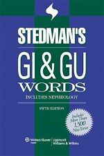 Stedman's Word Books GI and GU Words Includes Nephrology 5th Edition 2008