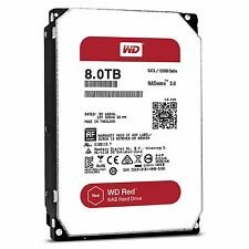 "WD Red 8TB NAS Hard Disk Drive - 5400 RPM SATA 6 Gb/s 128MB Cache 3.5"" WD80EFZX"