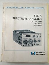 HP 8557A Spectrum Analyzer Operation & Service Manual P/N 08557-90027