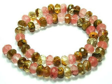 "5X8mm Faceted Watermelon Tourmaline Gems loose Beads 15""AAA"