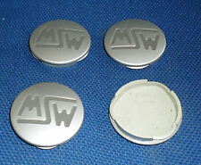 OZ RACING GENUINE CENTRE CAPS M598 SET OF 4 GREY WITH DARK GREY MSW LOGO