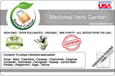 Medicinal Herb Kit! 15 herbs! Organic Medicinal Herb bank! 2016- Prepper Kit2016