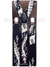 New Mens Womens Piano Clip-on Suspenders Elastic Y-Shape Adjustable Braces