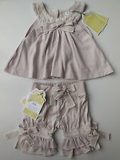 Nanny Pickle baby girl bamboo organic cotton top shorts size 000 RRP $54.95 Gift