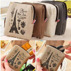 Women Lady Girls' Retro Coin Bag Canvas Zipper Holder Wallet Purse Case Pouch