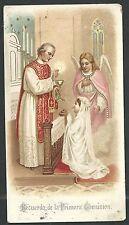 Estampa antigua del Angel de la Guarda andachtsbild santino holy card santini