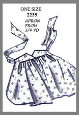 Vintage Mail Order 3/4 Yd Tea hostess Apron 1 Sz  Fabric Material Sewing # 2235