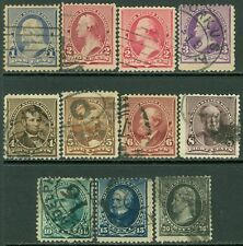 USA : 1890-93. Scott #219-28 Used. Fresh set except #228 small faults. Cat $134.