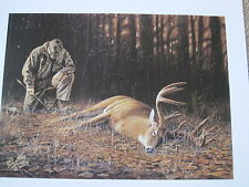 """ THANK YOU GOD ""  - Deer Hunting Print by Wildlife Artist Desmond  McCaffrey"