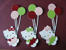 Hello Kitty with Balloons Cat Girls Children Die Cuts (Scrapbook/Cards)
