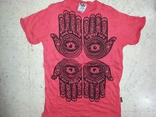 Yoga Men T Shirt Buddha Tattoo Lotus India OM Ganesh ra Chakra PALM XL RARE Sure