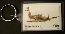RAF HAWKER HURRICANE Fighter WWII Aircraft Stamp Keyring
