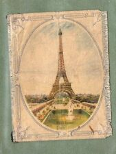 Muratti cigarette card Silk 1916  Eiffel Tower Large size silk insert RARE  #021