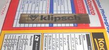 1 Plastic Speaker Badge Klipsch Plastic Logo Grille Emblem Gold color Nameplate