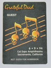 Grateful Dead Backstage Pass 6-9-94 Cal Expo Amphitheatre Sacramento