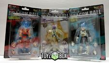 "In STOCK Bandai Shokugan Dragonball Z ""God Vegeta + Goku + Golden Frieza"" Shodo"