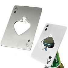 Playing Card Ace of Spades Poker Home Bar Tool Bottle Soda Beer Cap Opener LM
