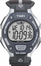 Timex T5H421, Men's Ironman 30-Lap Nylon Watch, Alarm, Indiglo, T5H4219J
