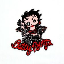 Betty Boop Cute Sexy Lady Rider Motorcycles Rocker Biker Clothing Iron on Patch