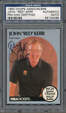 1990/91 Hoops Announcers John Red Kerr PSA/DNA Certified Authentic Auto *4498