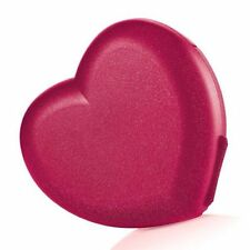 Tupperware Red Sparkling Valentine Heart Keeper Container NEW