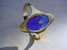Vintage Unusual Ladies Chopard 18K Gold, Lapis Dial, w/ Original Box.