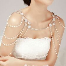 Bridal Women Crystal Rhinestone Shoulder Body Chain Headdress Crystal Jewelry