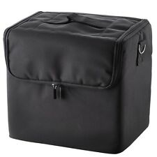 Large Cosmetic Box Beauty Makeup Nail Jewelry Soft Fabric Vanity Salon Case