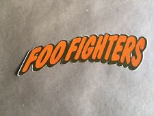 FOO FIGHTERS RARE ORIGINAL PROMO STICKER