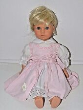 "Engel-Puppe 18"" Doll Blonde Blue Eyes 2 Teeth Open Close Eyes"