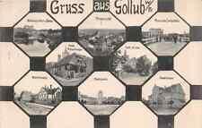 Gruss aus  Gollub (Westpreußen) Wallstrasse Grenzstation Stadtschule 1915