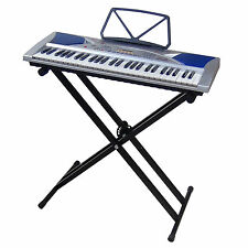 Clavier MK2054 LCD 54 Touches E-Piano Keyboard Enseignement avec Support Stand