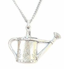 Watering Can Pendant Handcrafted in Solid Pewter In The UK + Free Gift Box PN16