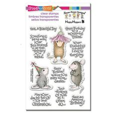 HOUSE MOUSE RUBBER STAMPS CLEAR FRIEND WISHES STAMP SET
