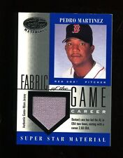 2001 Leaf Certified Fabric of the Game Pedro Martinez GU Jersey Red Sox /268