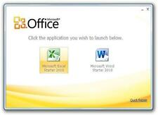 MICROSOFT Office 2010 STARTER [Word 2010 & EXCEL 2010] per Windows 10, 8, 7