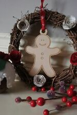 Personalised Christmas Gingerbread Man Tree Festive Gift Family Decoration