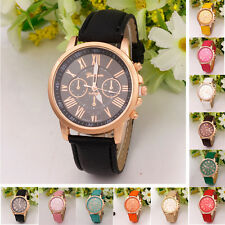 Wholesale 10pcs Women Geneva Roman Numberal Quartz Analog Leather Wrist Watches