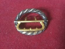 Antique Georgian Shoe Buckle Of Contrasting Gold and Silver Colour Metal