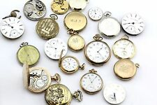 20 Antique & Vintage Pocket Watches for Parts. Only Swiss or American Made