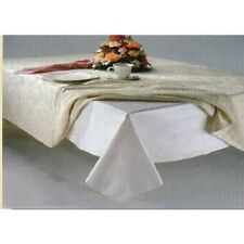 White Quilted Flannel Dining Table Pad Protector 52x70in.