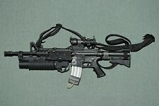 "Hot Toys 1/6 Black M4 Assault Rifle Weapon w/ Accessories for 12"" Figures W-62"