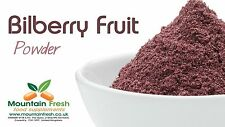 Bilberry Fruit Powder - Pure Dried Berries 50g FREE UK Delivery