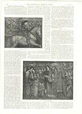 1893 Burne-jones Gallery Mirror Venus Wheel Fortune Sir Galahad Kings Daughters