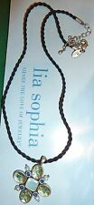"""NEW DEMO - LIA SOPHIA """"BLOOMMATES"""" NECKLACE - MOP/FRESHWATER PEARLS/CRYSTALS"""