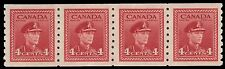 "CANADA 267 - King George VI ""War Effort""  Coil Strip of Four (pa3540)"