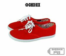Womens Canvas Shoes Lace Up Casual Sneakers Kicks Footwear Tennis Flats Colors