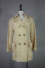 Vintage velvet jacket M trench coat cream white 60's new
