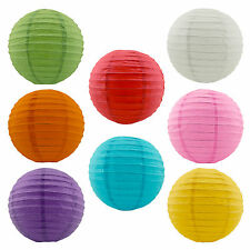 "Paper Lanterns Wedding Party Hanging Decoration 8"" Assorted Colors 8-Pack Lamps"