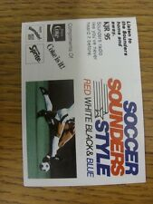1983 Fixture Card: Soccer - Seattle Sounders (fold out style). Any faults with t